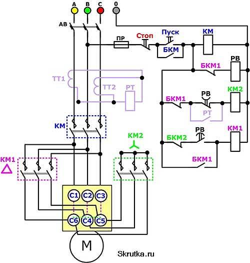 Как происходит реверс газа схема